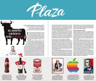 Iconos del diseño gráfico por Xavi Calvo en la revista Plaza