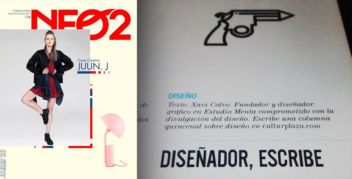 Columna de Xavi Calvo en la revista de diseño Neo2.
