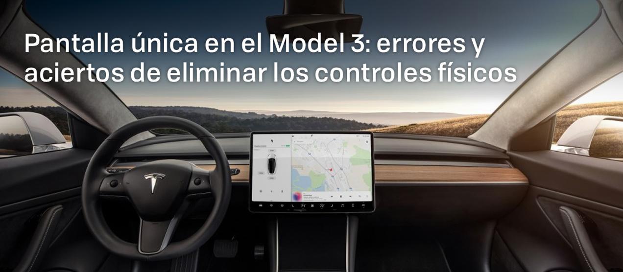 Diseño Tesla Model 3 panel UX UI